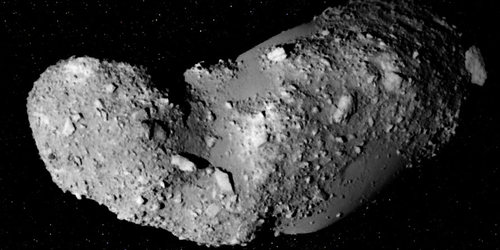 Focus: Hard and Soft Bounces Explain Asteroid's Surface Structure