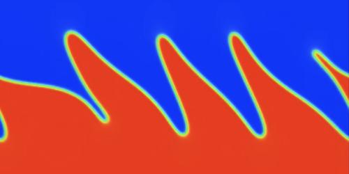 Superfluid Interface Mixes Classical and Quantum Behavior