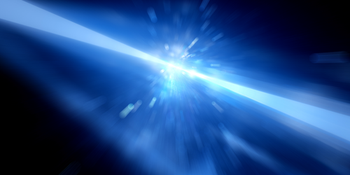 Light Pulses Change Speed in a Plasma