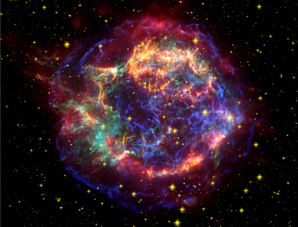 Supernova remnant in Cassiopeia